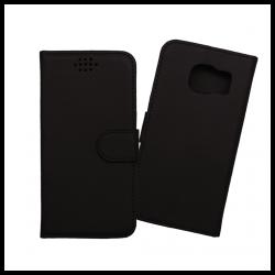Custodia a libro con chiusura magnetica flip per Samsung Galaxy S7 nero