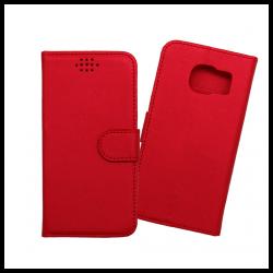 Custodia a libro con chiusura magnetica flip per Samsung Galaxy S7 rosso