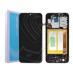 DISPLAY LCD ORIGINALE Samsung Galaxy A20E SM-A202F TOUCH SERVICE PACK + FRAME