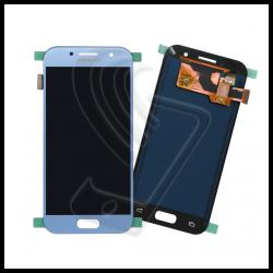 DISPLAY LCD TOUCH SCREEN PER Samsung Galaxy A3 2017 SM-A320F A320 SCHERMO VETRO Colore Blu (Blue)