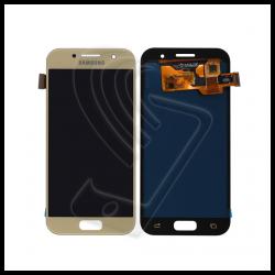 DISPLAY LCD TOUCH SCREEN PER Samsung Galaxy A3 2017 SM-A320F A320 SCHERMO VETRO Colore Oro (Gold)