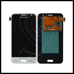 DISPLAY LCD TOUCH SCREEN PER Samsung Galaxy J1 2016 SM-J120F J120 SCHERMO VETRO Colore Bianco (White)
