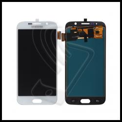 DISPLAY LCD TOUCH SCREEN PER Samsung Galaxy S6 SM-G920F G920 SCHERMO VETRO Colore Bianco (White)