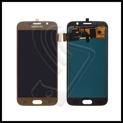 DISPLAY LCD TOUCH SCREEN PER Samsung Galaxy S6 SM-G920F G920 SCHERMO VETRO Colore Oro (Gold)