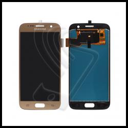 DISPLAY LCD TOUCH SCREEN PER Samsung Galaxy S7 SM-G930F G930 SCHERMO VETRO Colore Oro (Gold)
