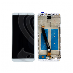 DISPLAY LCD VETRO TOUCH FRAME Huawei Nova 2i RNE-L02 RNE-L22 Bianco