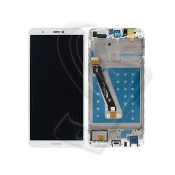 DISPLAY LCD VETRO TOUCH FRAME Huawei P Smart FIG-LX1 FIG-L21 SCHERMO Bianco
