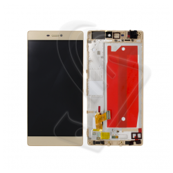 DISPLAY LCD VETRO TOUCH FRAME Huawei P8 GRA-L09 SCHERMO Oro Gold
