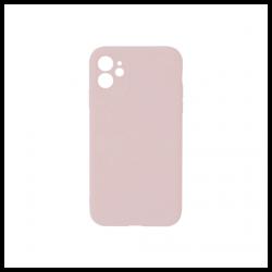 Cover morbida in silicone per Apple iPhone 11 con 3D camera rosa sabbia