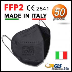 Mascherine FFP2 Nera Fas 50 pezzi MADE IN ITALY