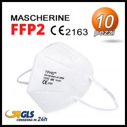 10 Mascherine FFP2 YD-002 con certificati CE 2163 in comoda confezione Seal Bag