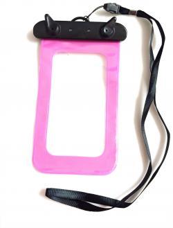 Sacchetto waterproof custodia impermeabile proteggi cellulare rosa