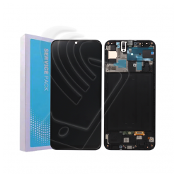 DISPLAY LCD ORIGINALE Samsung Galaxy A50 SM A505F TOUCH SERVICE PACK + FRAME