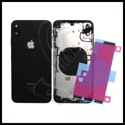 Scocca posteriore per Apple iPhone XS Max con flex e biadesivo batteria nero