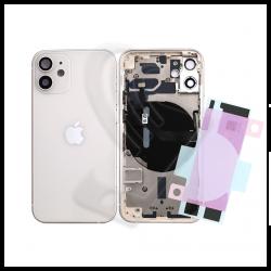 SCOCCA POSTERIORE + FLEX Per iPhone 12 Mini TELAIO VETRO BACK COVER HOUSING Bianco / White