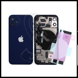 SCOCCA POSTERIORE + FLEX Per iPhone 12 Mini TELAIO VETRO BACK COVER HOUSING Blu / Blue
