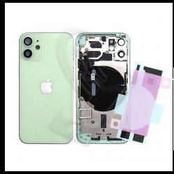 SCOCCA POSTERIORE + FLEX Per iPhone 12 Mini TELAIO VETRO BACK COVER HOUSING Verde / Green