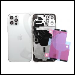 SCOCCA POSTERIORE + FLEX Per iPhone 12 Pro Max TELAIO VETRO BACK COVER HOUSING Bianco / White