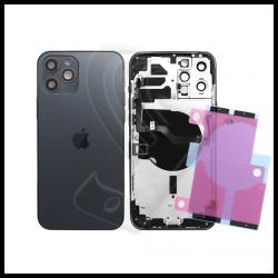 SCOCCA POSTERIORE + FLEX Per iPhone 12 Pro Max TELAIO VETRO BACK COVER HOUSING Nero / Black