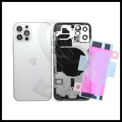 SCOCCA POSTERIORE + FLEX Per iPhone 12 Pro TELAIO VETRO BACK COVER HOUSING Bianco / White