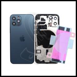 SCOCCA POSTERIORE + FLEX Per iPhone 12 Pro TELAIO VETRO BACK COVER HOUSING Blu / Blue
