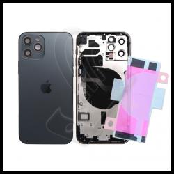 SCOCCA POSTERIORE + FLEX Per iPhone 12 Pro TELAIO VETRO BACK COVER HOUSING Nero / Black