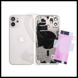 SCOCCA POSTERIORE + FLEX Per iPhone 12 TELAIO VETRO BACK COVER HOUSING Bianco / White