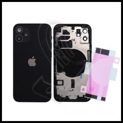 SCOCCA POSTERIORE + FLEX Per iPhone 12 TELAIO VETRO BACK COVER HOUSING Nero / Black