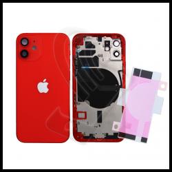 SCOCCA POSTERIORE + FLEX Per iPhone 12 TELAIO VETRO BACK COVER HOUSING Rosso / Red