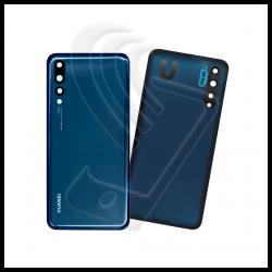 VETRO POSTERIORE + VETRINO Per Huawei P20 PRO BACK COVER Blu (Midnight Blue)