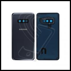 VETRO POSTERIORE SCOCCA + lente fotocamera PER Samsung Galaxy S10e G970F BACK COVER Nero