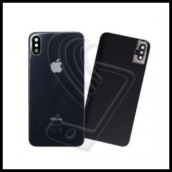 Vetro scocca posteriore con lente per Apple iPhone X grigio siderale