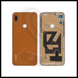 SCOCCA POSTERIORE PLASTICA Per Huawei Y6 Pro 2019 MRD-LX2 L22 BACK COVER Colore Marrone (Brown)