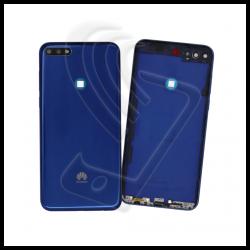 SCOCCA POSTERIORE PLASTICA Per Huawei Y7 2018 LDN-L01 LX3 BACK COVER BATTERIA Colore Blu (Blue)