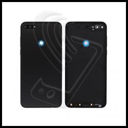 SCOCCA POSTERIORE PLASTICA Per Huawei Y7 2018 LDN-L01 LX3 BACK COVER BATTERIA Colore Nero (Black)