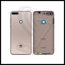 SCOCCA POSTERIORE PLASTICA Per Huawei Y7 2018 LDN-L01 LX3 BACK COVER BATTERIA Colore Oro (Gold)