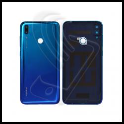Scocca posteriore con lente fotocamera integrato per Huawei Y7 2019 blu
