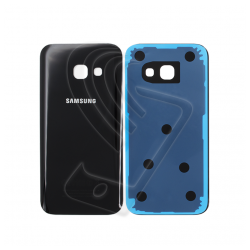 VETRO POSTERIORE SCOCCA Samsung Galaxy A3 2017 A320F BACK COVER Nero Black