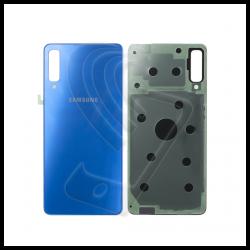 VETRO POSTERIORE SCOCCA Samsung Galaxy A7 2018 A750F BACK COVER Blu Blue