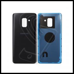 VETRO POSTERIORE SCOCCA Samsung Galaxy A8 2018 A530F BACK COVER Nero Black