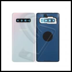 VETRO POSTERIORE SCOCCA + VETRINO Samsung Galaxy S10 G973F BACK COVER BATTERIA Colore Bianco (Prism White)