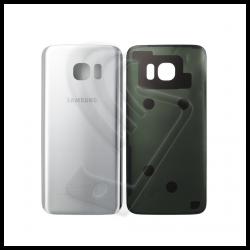 VETRO POSTERIORE SCOCCA Samsung Galaxy S7 Edge G935F BACK COVER Argento Silver