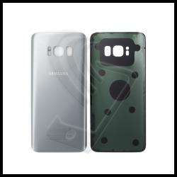 VETRO POSTERIORE SCOCCA Samsung Galaxy S8 G950F BACK COVER Argento Silver