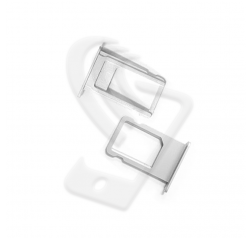 CARRELLO SLOT SIM Per APPLE iPhone 6S VASSOIO LETTORE TRAY Argento / Bianco