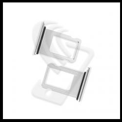CARRELLO SLOT SIM Per APPLE iPhone 8 VASSOIO LETTORE TRAY Argento / Bianco