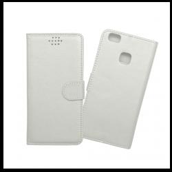 Custodia a libro con chiusura magnetica flip per Huawei P9 lite bianco