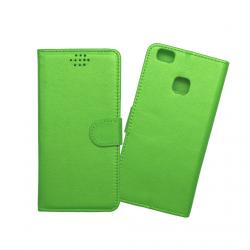 Custodia a libro con chiusura magnetica flip per Huawei P9 lite verde