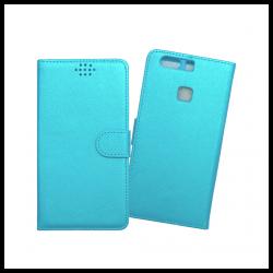 Custodia a libro con chiusura magnetica flip per Huawei P9 Plus azzurro