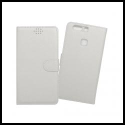 Custodia a libro con chiusura magnetica flip per Huawei P9 Plus bianco
