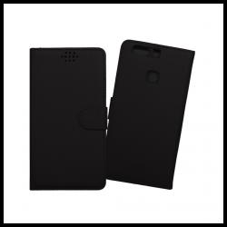 Custodia a libro con chiusura magnetica flip per Huawei P9 Plus nero